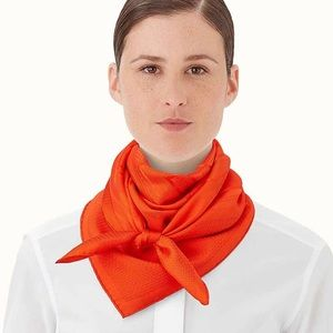 Orange bouclerie moderne scarf /wrap 90